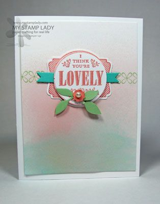 SU You're Lovely, 1 3/4″ Circle Punch, Labels Collection Die      ***video tutorial         (Feb 1, 2014)