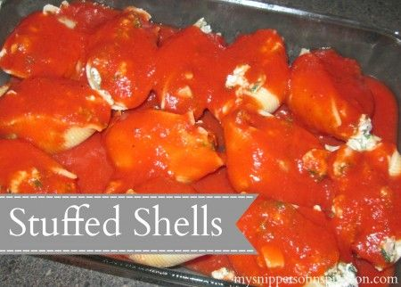 Stuffed Shells | Two-Cup Tuesday | Pinterest