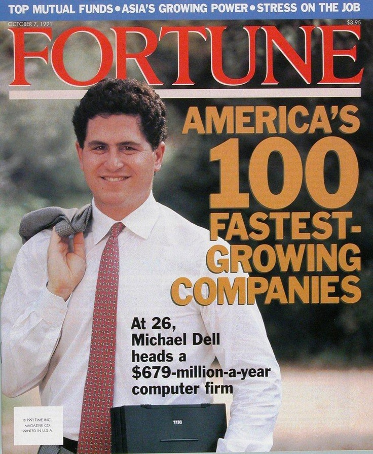1991 – Fortune magazine features Dell in the list of America's 100 Fastest-Growing Companies.