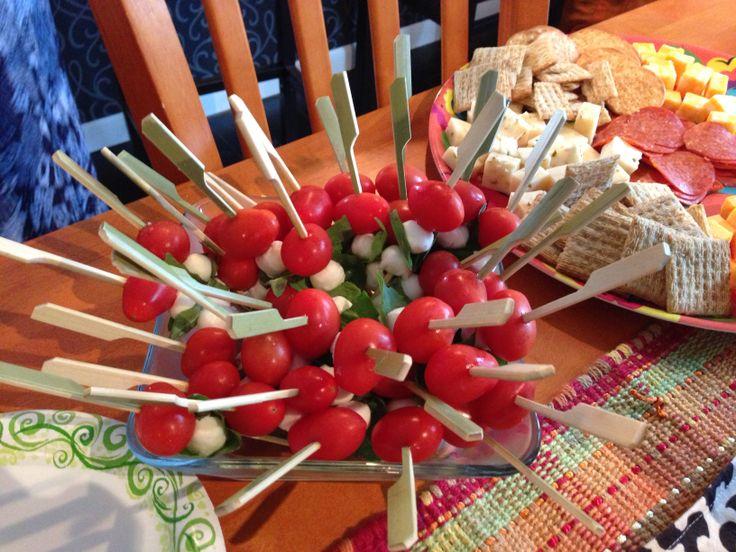 Mozzarella, tomatoe & basil skewers | My Pinterest Projects! | Pinter ...