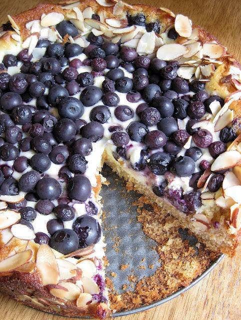 Blueberry Cream Cheese Danish cake - Blueberries, cream cheese, lemon ...