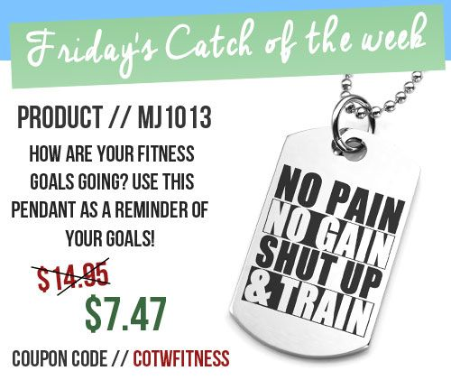 Use this pendant as a constant reminder of your fitness/health goals