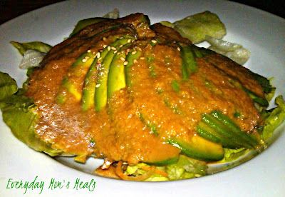 Avocado Salad with Carrot Ginger Dressing~ A salad for all avocado ...