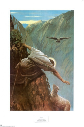 Painting, 'The Lost Sheep' by Alfred Soord, 1868-1915