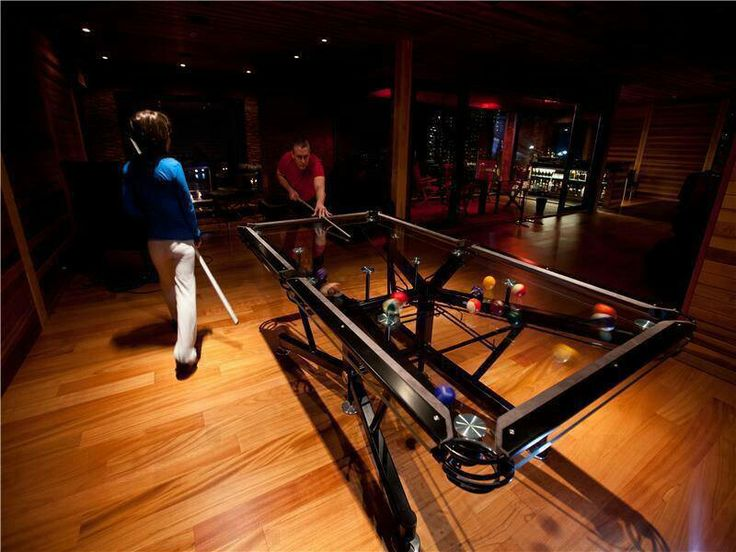 Transparent Pool Table VERY COOL Pinterest