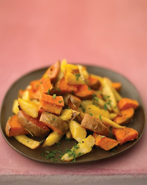 Maple Glazed Parsnips And Sweet Potatoes - http://paleoaholic.com ...