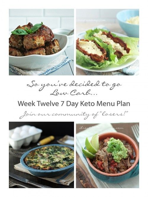 Week twelve 7 day keto menu plan low carb weight watchers amp healthi