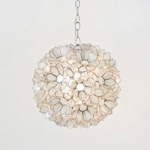 Worlds Away Capiz Shell Pendant Lamp