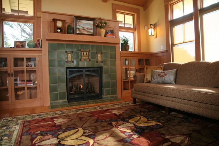 Arts And Crafts Style Fireplace Tiles