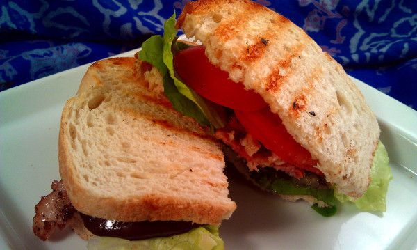 ... Eggplant BLT (featuring a bit of piave cheese!!) #asecondonthelips