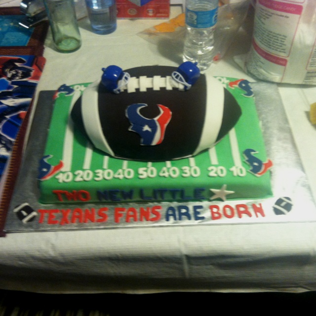 Baby Showers Houston ~ Baby shower cakes houston texans