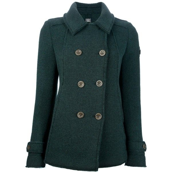 SWISS CHRISS DOUBLE BREASTED PEA COAT found on Polyvore