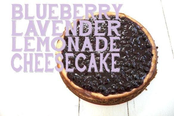 Blueberry Lavender Lemonade Cheesecake