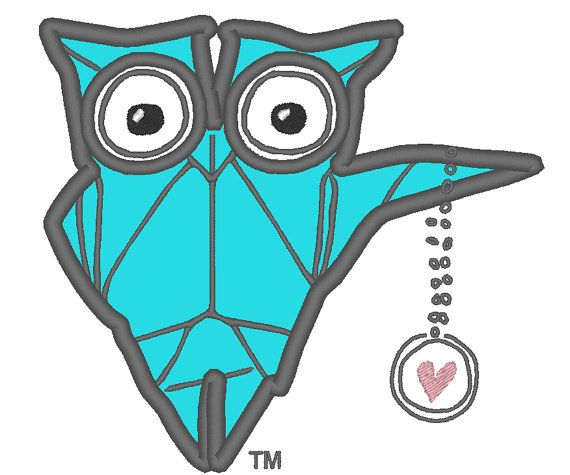 Origami Owl Logo Applique for Machine Embroidery by EmbellishStar   5    Origami Owl Logo