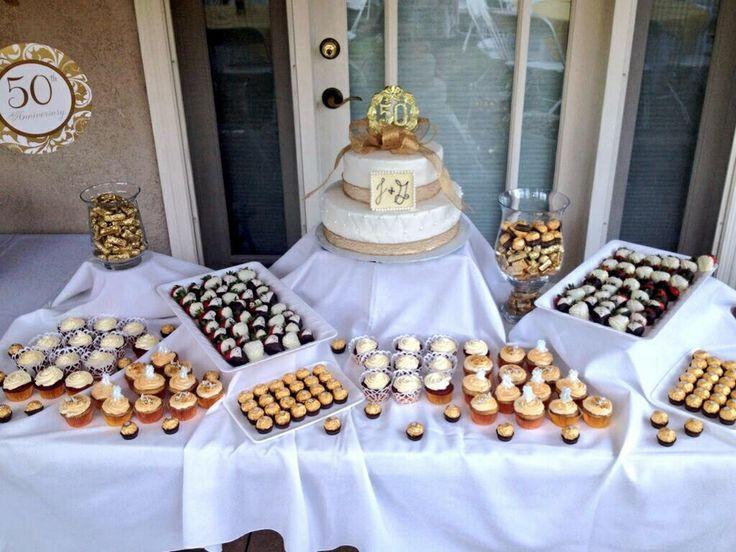 Th wedding anniversary dessert table my pastry
