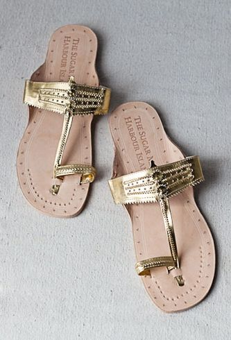 India Hicks -- The Sugar Mill Gold Sandal | shoes