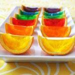 rainbow-gelatin-orange-wedges | Party Recipes | Pinterest
