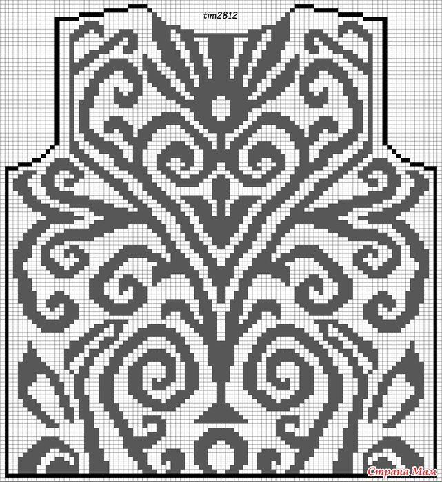 Филейное вязание крючком розы для топа платья кофты схемы 64