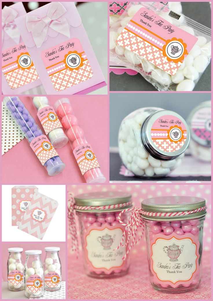 Tea Party Favor Container from hotref.com