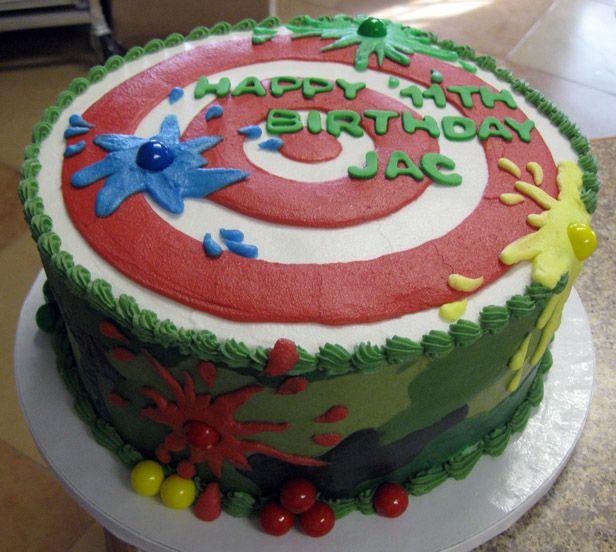 Paintball Kids Cake Ideas 49344 Paintball Cake