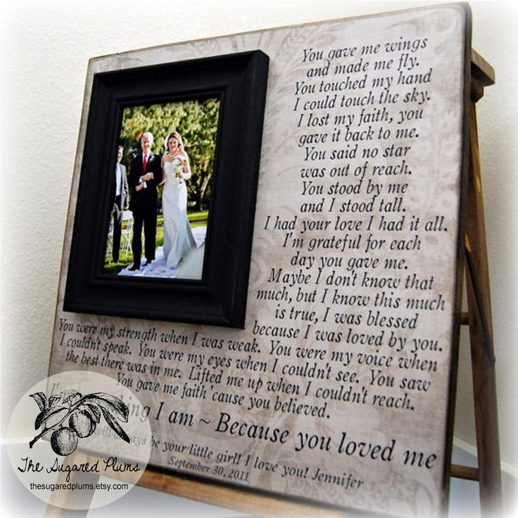 Personalised Wedding Gifts For Parents : Wedding Gifts For Parents Parent Wedding Gift Personalized Picture Fr ...