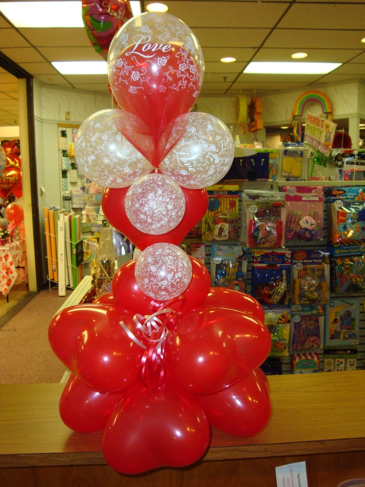 valentine balloon in a box