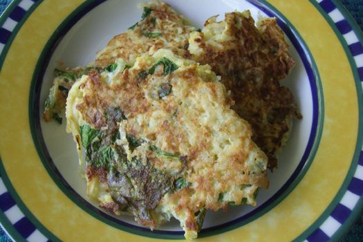 Gluten Free Potato Latkes Recipe with spinach variation | Book of Yum