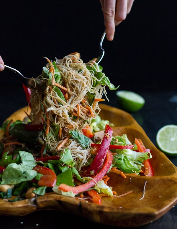Vietnamese Chicken, Avocado + Lemongrass Spring Roll Salad With Hoisin ...