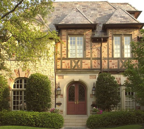 Brick pattern tudor tudor homes pinterest for French style house plans
