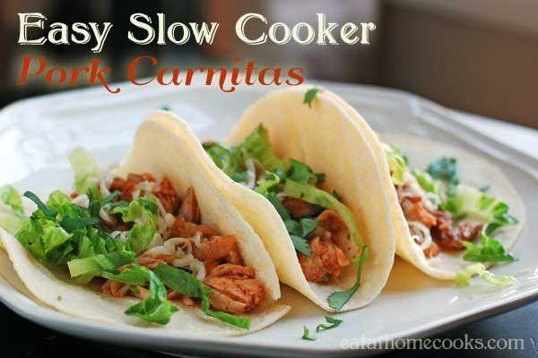 Easy Slow Cooker Pork Carnitas