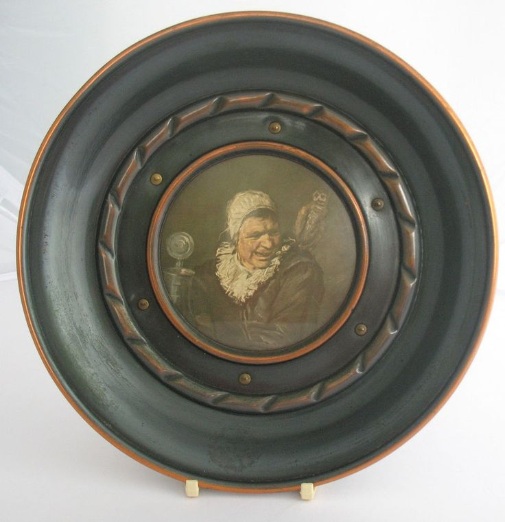 vintage metal tin plate copper frans hals malle babbe wall hanging 8. Black Bedroom Furniture Sets. Home Design Ideas