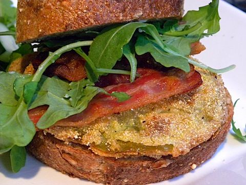 Fried Green Tomato BLT - yummmmmm! | Recipes worth trying... | Pinter ...