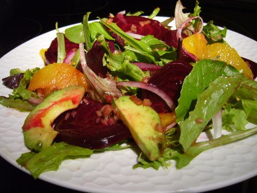 Roasted Beet, Orange and Avocado Salad with Ginger-Cassis Dressing ...