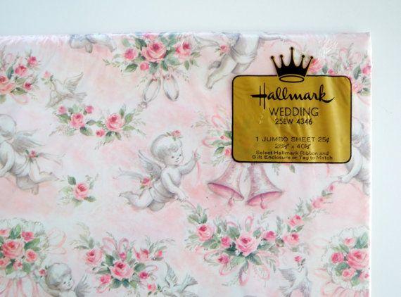 Wedding Gift Ideas Hallmark : Vintage Hallmark Wedding Wrapping Paper Gift Wrap by WildPlumTree, USD3 ...