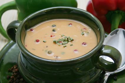 Creamy Poblano Chile Pepper Soup   Soups On   Pinterest