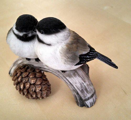 Very cute chickadees bird figurine united design corp - Chickadee figurine ...