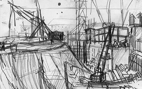 frank auerbach london building sites 1952 62 at the courtauld gall. Black Bedroom Furniture Sets. Home Design Ideas