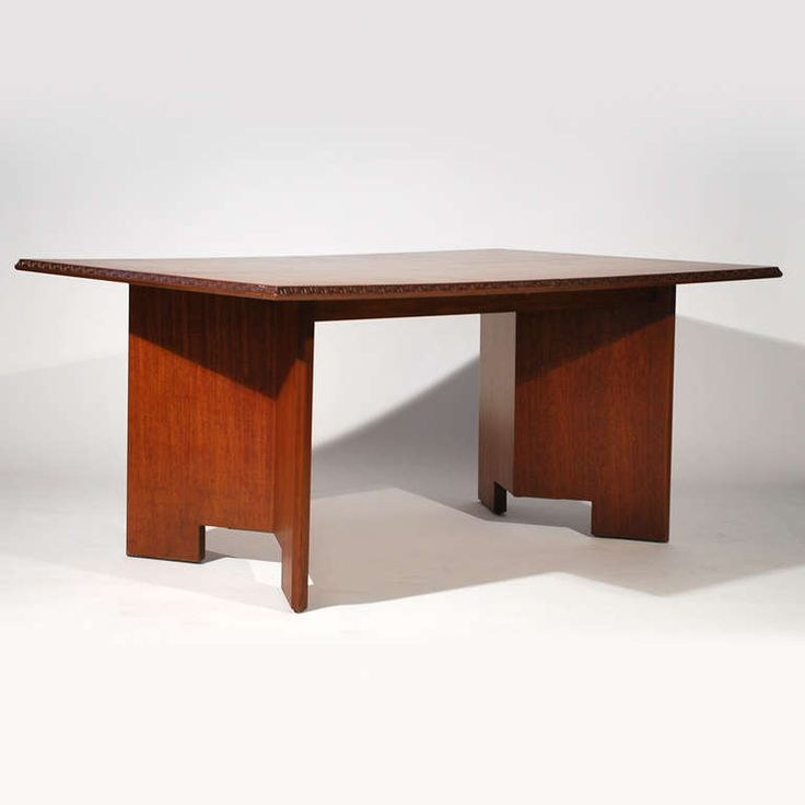Frank Lloyd Wright Mahogany Dining Table Furniture Pinterest