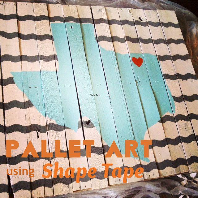Pallet Art DIY Tutorial using Shape Tape #PalletArt #ShapeTape