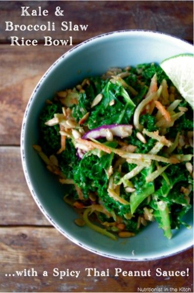 Kale rice bowl with easy dressing | {eat} | Pinterest