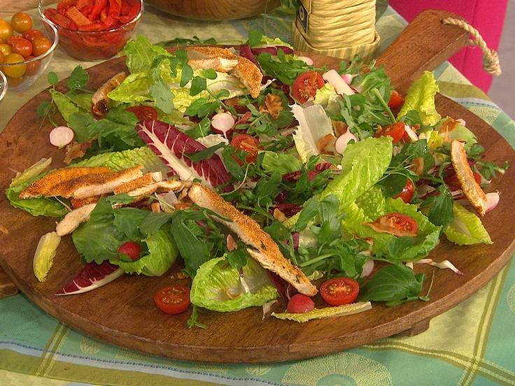 caesar salad jamie oliver sixx rezept. Black Bedroom Furniture Sets. Home Design Ideas