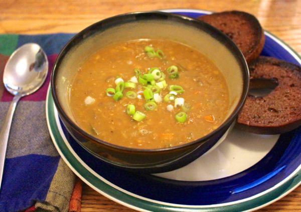 Creamy Coconut Curry Red Lentil Dahl | soup | Pinterest