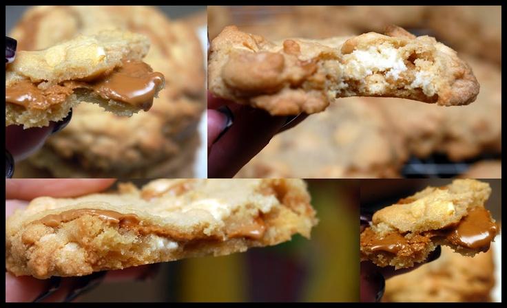 Hugs & CookiesXOXO: BISCOFF STUFFED WHITE CHOCOLATE CHIP COOKIES