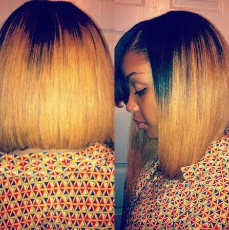Blonde bob weave | Natural Hair Styles | Pinterest