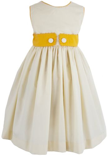 Yellow Jasmine Dress. Also in green and pink. For little girls up to size 8.