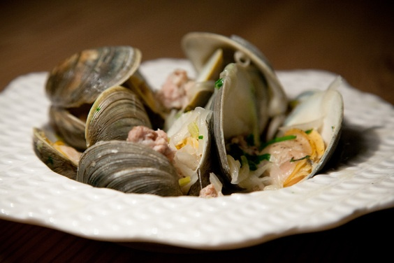 Drunken Clams with Sausage | Recipe