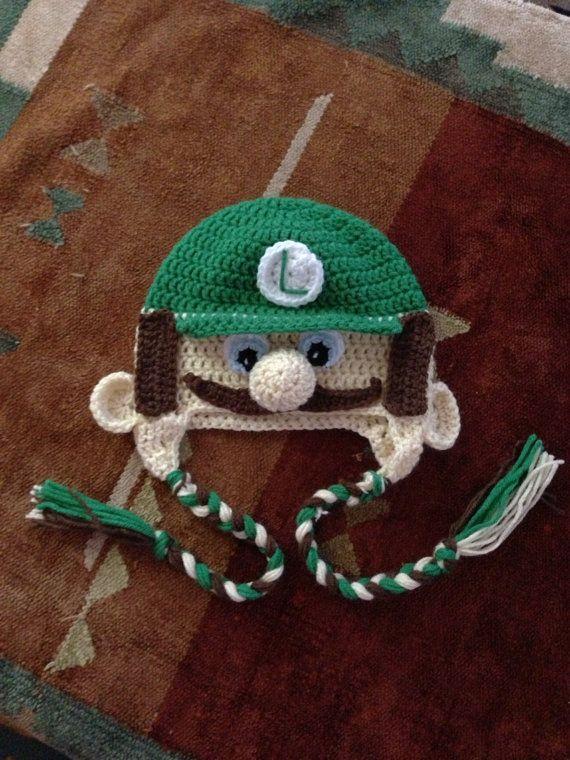 Crochet Pattern Mario Hat : Crochet Luigi hat