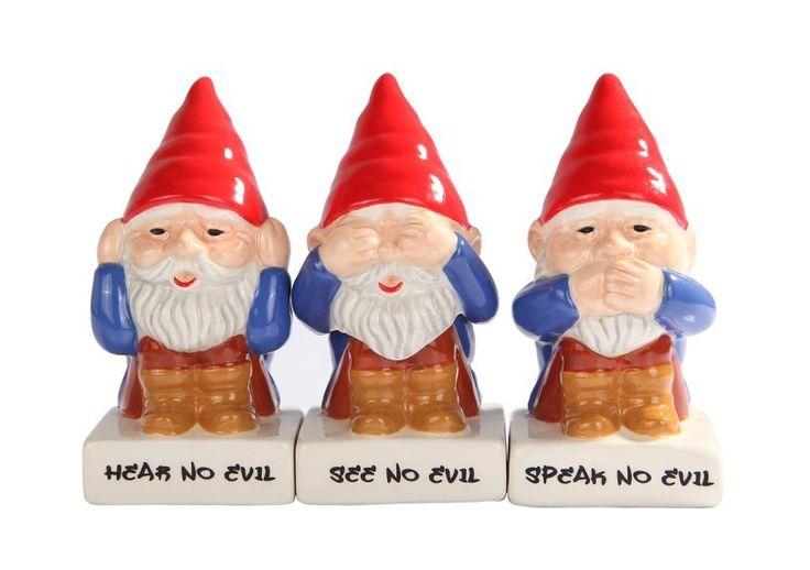 Hear See Speak No Evil Gnome Garden Gnome Pinterest