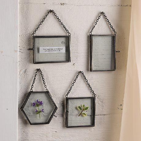 hanging glass frames artwork