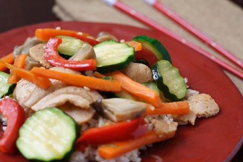 Dried Tofu and Vegetables in a Light Ginger-Garlic Sauce | recipe from ...